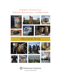 Strategic Plan - Smithsonian Institution