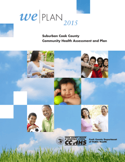 WePLAN 2015 - Cook County Department of Public Health