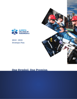 2013 - 2015 Strategic Plan - Alberta College of Paramedics