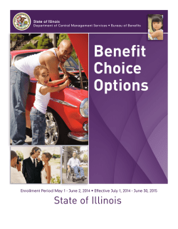 Benefit Choice Options booklet