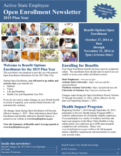 Open Enrollment Newsletter
