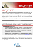 2015 Compliance Checklist - Raffa Financial Services