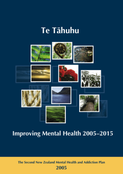 Te Tahuhu - Improving Mental Health 2005-2015