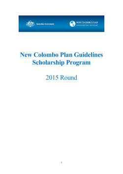 New Colombo Plan Guidelines Scholarship Program 2015 Round