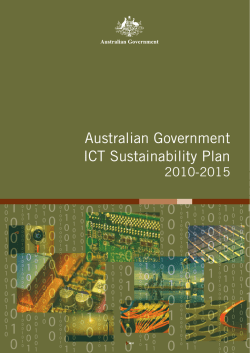 Australian Government ICT Sustainability Plan 2010