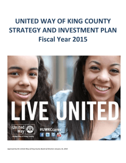 2015 Strategy and Investment Plan