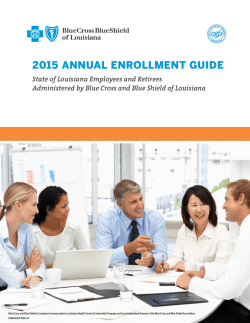 2015 annual enrollment guide - Blue Cross and Blue Shield of