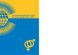 The Commonwealth Plan of Action for Gender Equality 2005 – 2015