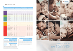 DISCOVERY HEALTH MEDICAL SCHEME PLAN RANGE SUMMARY