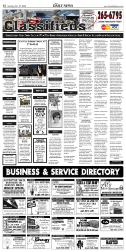 Classifieds - Havre Daily News