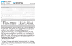 HMO BlueMedicare 2015 Plan Change Form