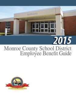 Monroe County School District Employee Benefit Guide