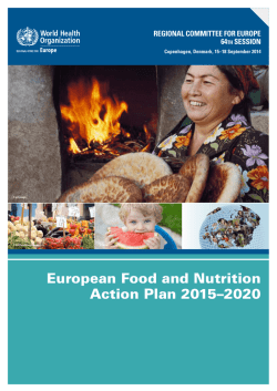 European Food and Nutrition Action Plan 2015–2020