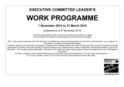 Executive, 1 December 2014 - 1 April 2015 Plan Document 01/12