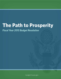 The Path to Prosperity - House Budget Committee