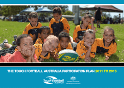 the touch football australia participation plan 2011 to 2015