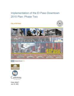 Implementation of the El Paso Downtown 2015 Plan