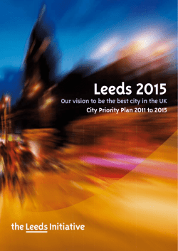 City Priority Plan - Leeds City Council