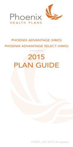 2015 PLAN GUIDE - Phoenix Health Plans