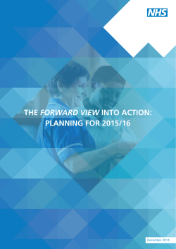 The Forward View into action: planning for 2015/16