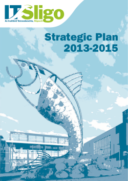 Strategic Plan 2013-2015 - Institute of Technology Sligo