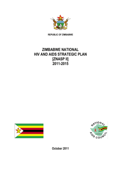 zimbabwe national hiv and aids strategic plan [znasp ii] 2011-2015