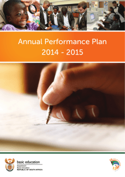 Annual Performance Plan 2014 - 2015