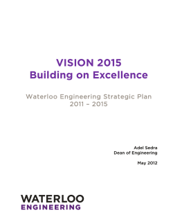 VISION 2015 Building on Excellence