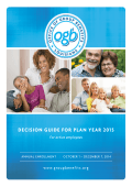 DECISION GUIDE FOR PLAN YEAR 2015
