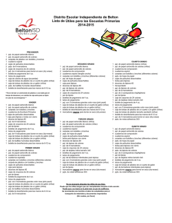 Copy of 2014-2015 Elementary School Supply List