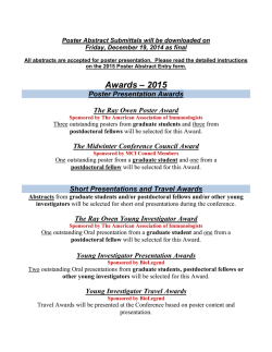 Listing of POSTER AWARDS-2015
