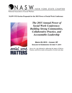 The 2015 Annual Power of Social Work Conference - NASW-NYS