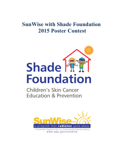 SunWise with Shade Foundation 2015 Poster Contest