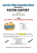 2015 Lake Soil and Water Conservation District Poster Contest