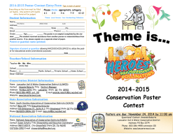 2014-2015 Conservation Poster Contest