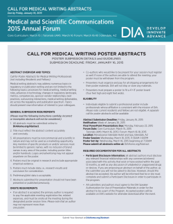 Read Poster Submission Details and Guidelines