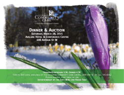 2015 Auction Poster.indd - Lutheran Community Care Centre