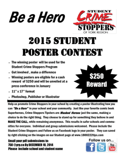 Student Crime Stoppers Poster Contest 2015