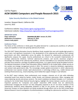 ACM SIGMIS Computers and People Research 2015