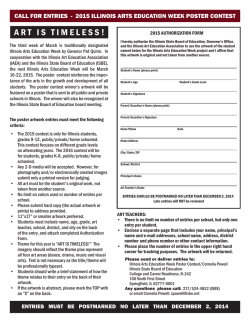 2015 Illinois Arts Education Week Poster Contest Authorization Form
