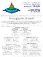 Sampling Theory and Applications www.american.edu/sampta2015