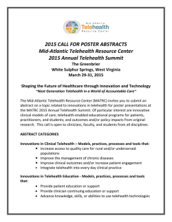 2015 CALL FOR POSTER ABSTRACTS Mid