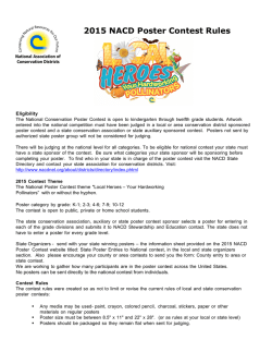 2015 NACD Poster Contest Rules