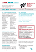 CALL FOR POSTERS - Association of Public Health Laboratories