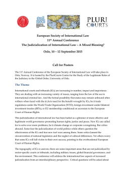 Call for Posters - European Society of International Law
