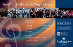 Department of Music Music recruitment poster, 2014-2015