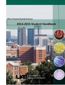 GBS Handbook 2014-2015 - The University of Alabama at Birmingham
