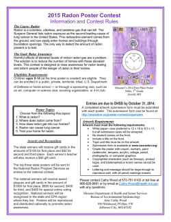 2015 Radon Poster Contest - Missouri Department of Health