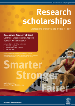 Research Scholarships 2015 - poster