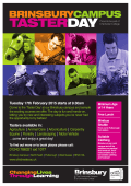 Brinsbury Taster Day A4 Poster (FEB 2015).indd
